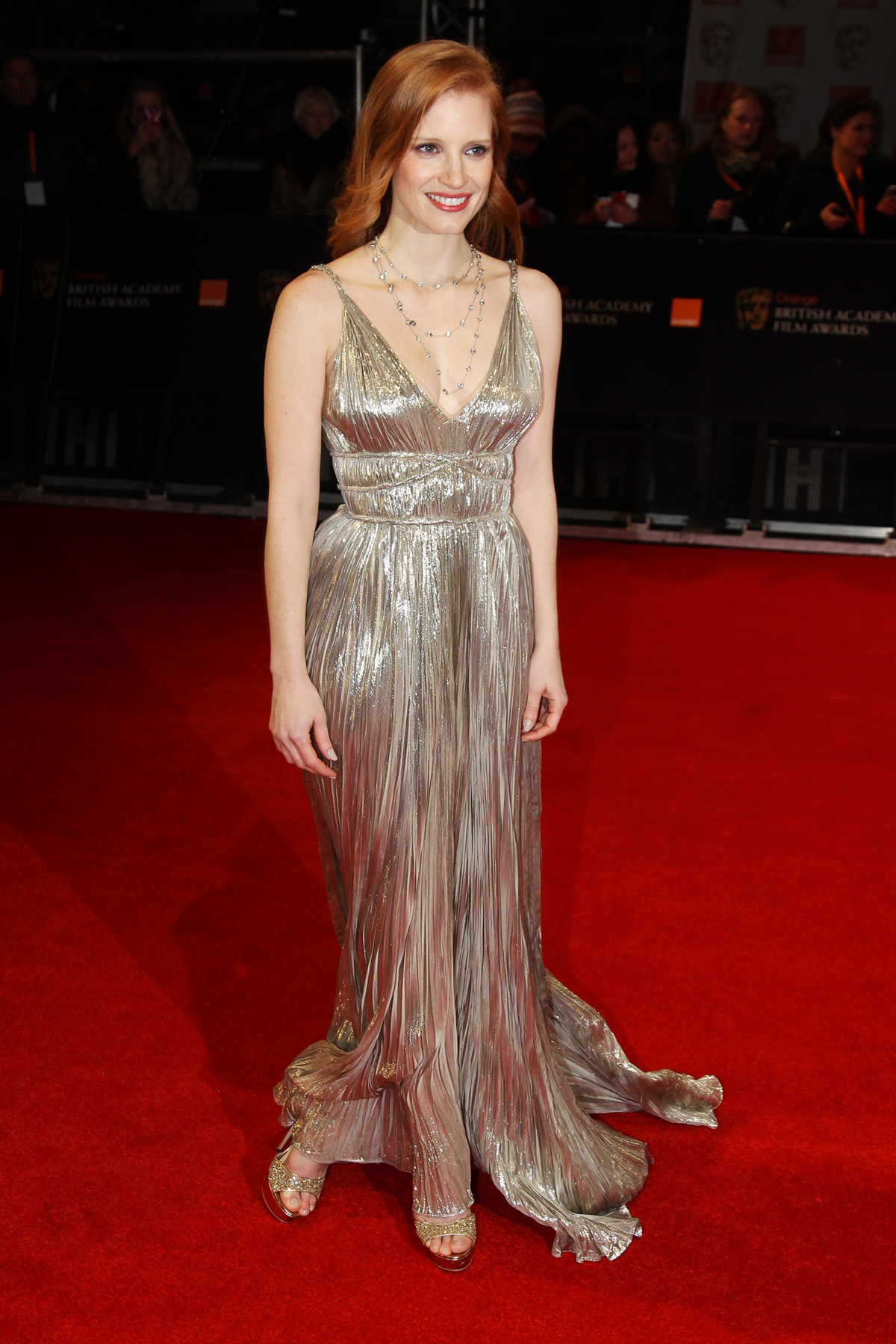 Jessica Chastain at BAFTA Awards 2012 in London Photo 1200x1800