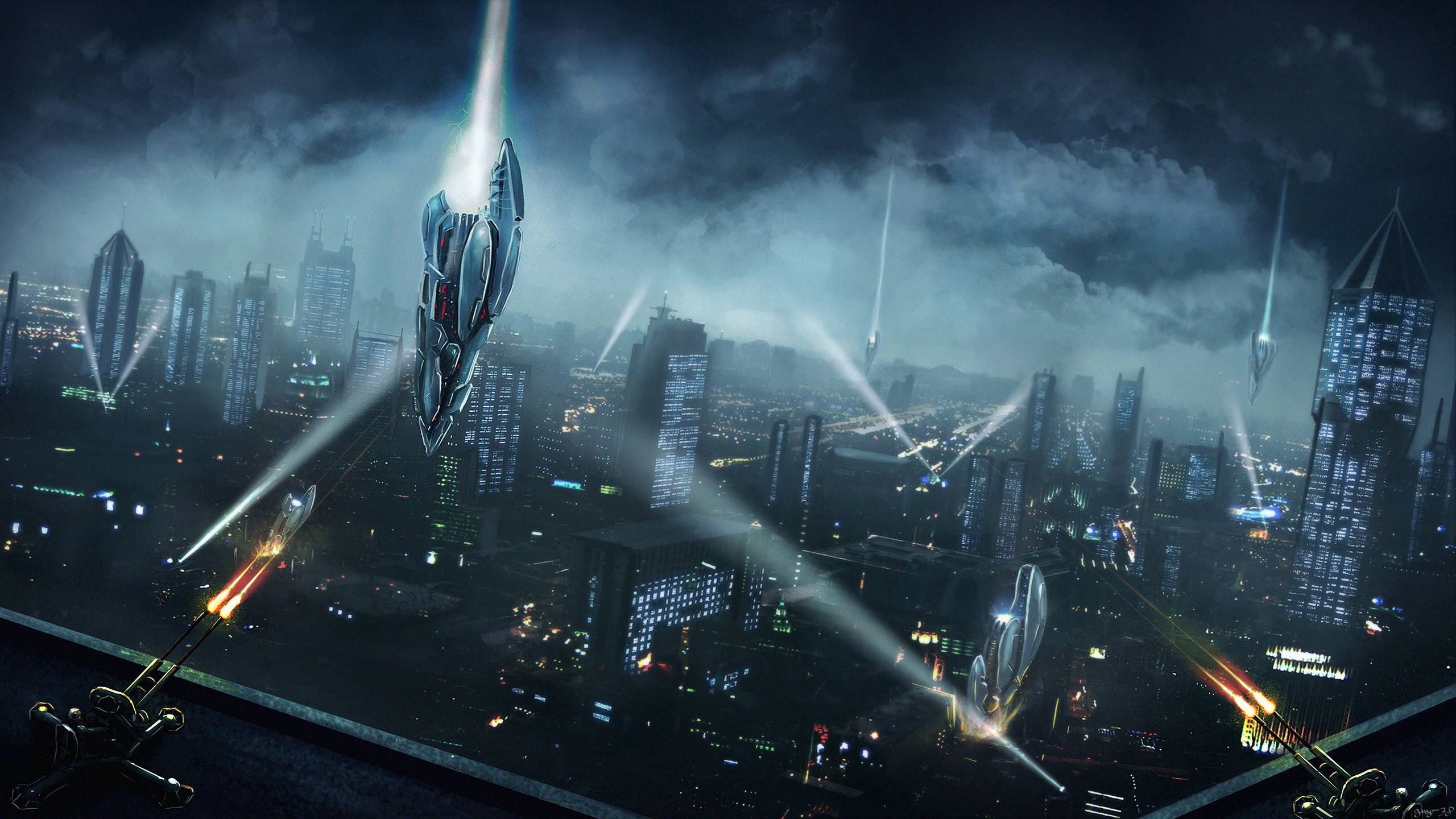 9 Space Invasion HD Wallpapers Background Images 2560x1440