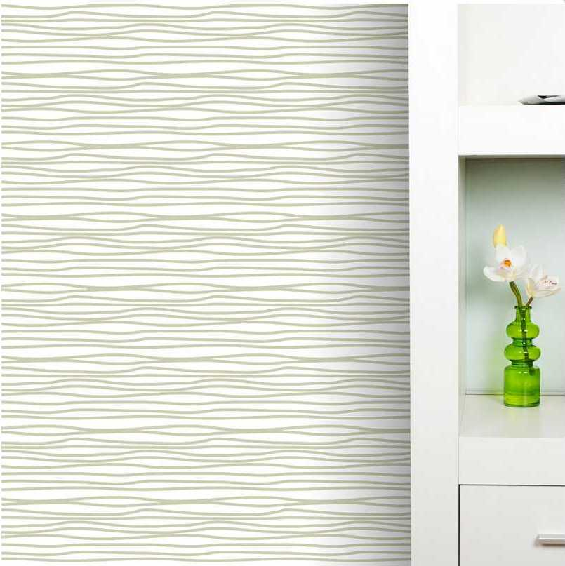 Clearance] Beige 24 SQUIGGLE IT REMOVABLE WALLPAPER 805x807