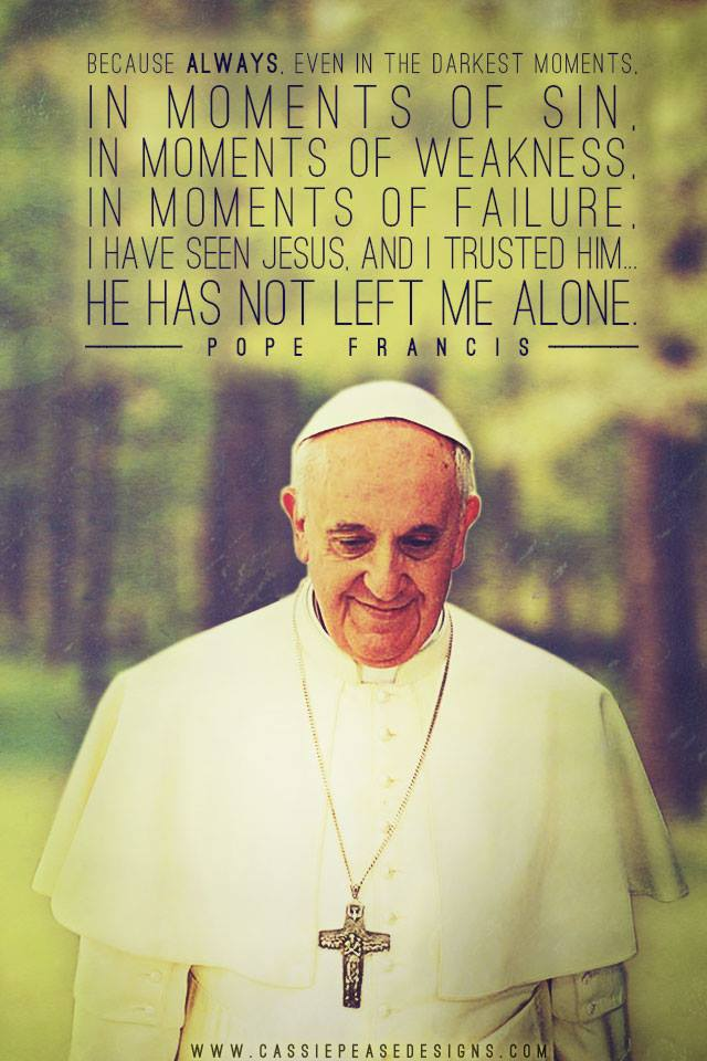 NEW Pope Francis iphone wallpaper   Cassie Pease Designs 640x960