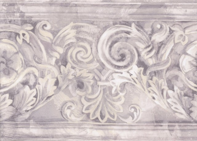 Grey White Stone Column Molding Wallpaper Border traditional wallpaper 640x458