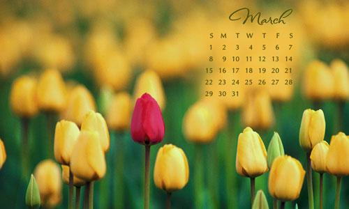 march calendar wallpaperjpg 500x300
