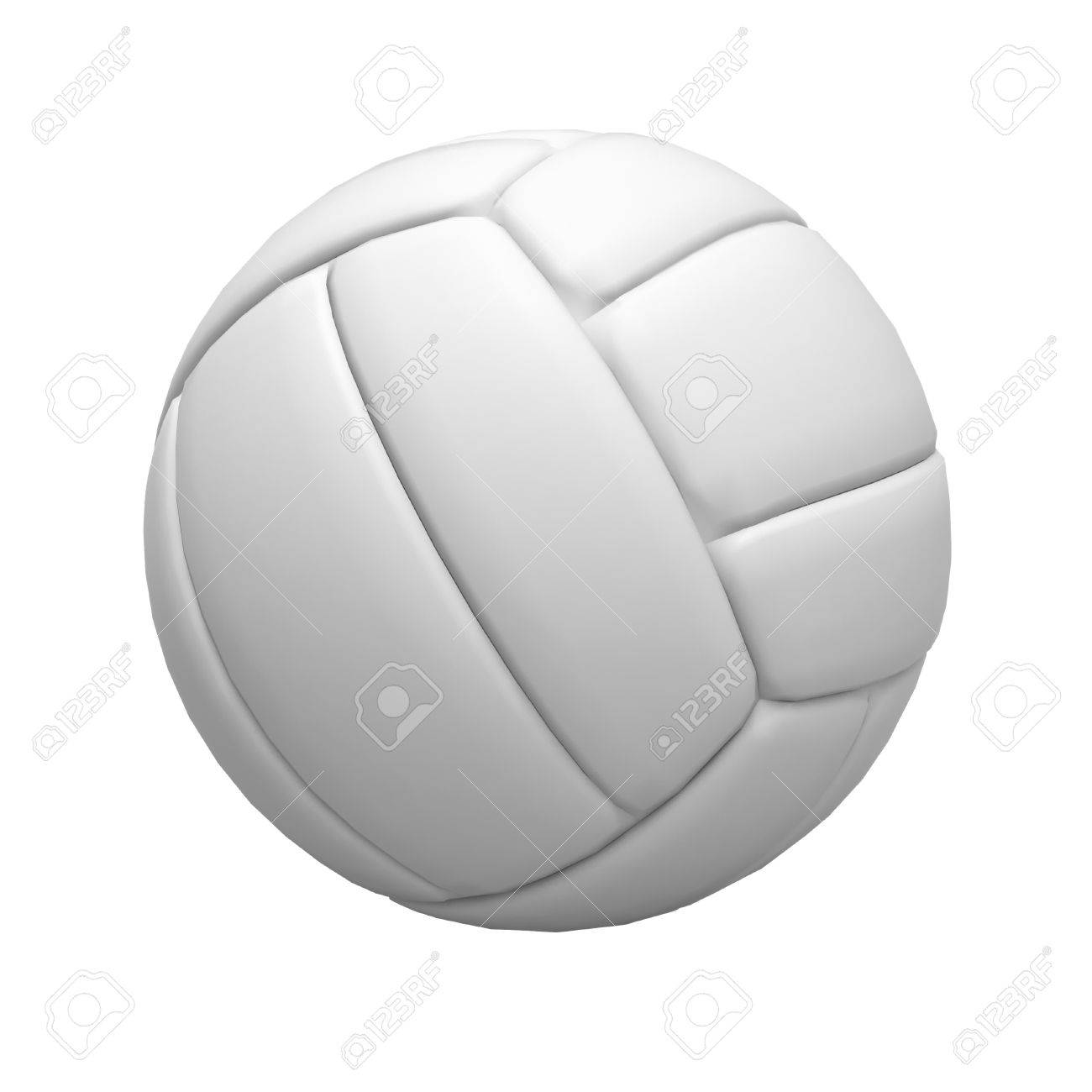 Blank Volley Ball On White Background Stock Photo Picture And 1300x1300