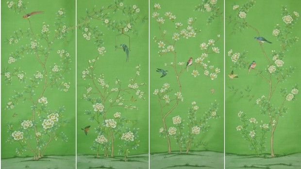 Griffin and Wongs hand painted wallpaper panels are simply stunning 620x349
