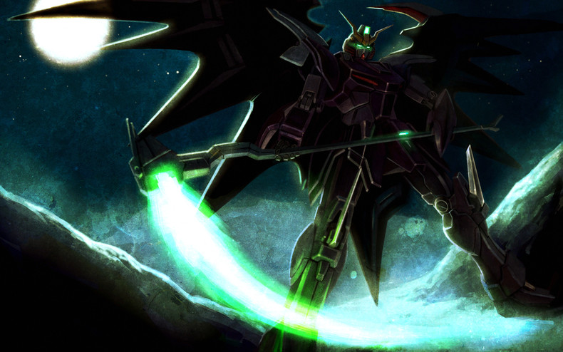 XXXG 0102 Gundam Deathscythe Hell   Mobile Suit Gundam Wing Artbooks 790x494