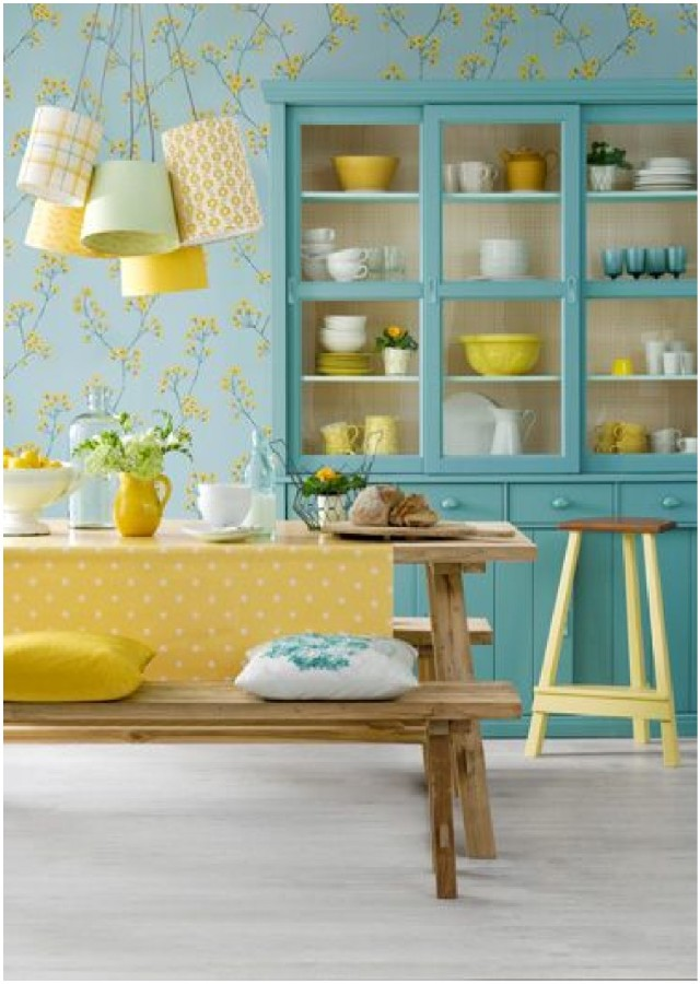 kitchen wallpaper ideas 4 The best patterned tiles and wallpaper ideas 640x900