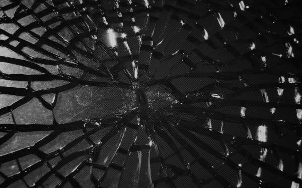 Abstraction glass broken gray desktop wallpapers 1680x1050 HQ 600x375