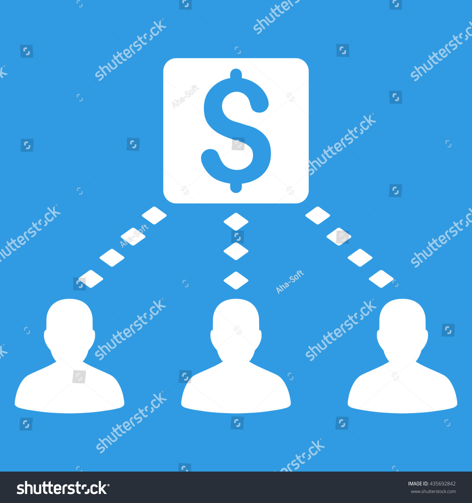 Money Recipients Vector Toolbar Icon Style Stock Vector Royalty 1500x1600