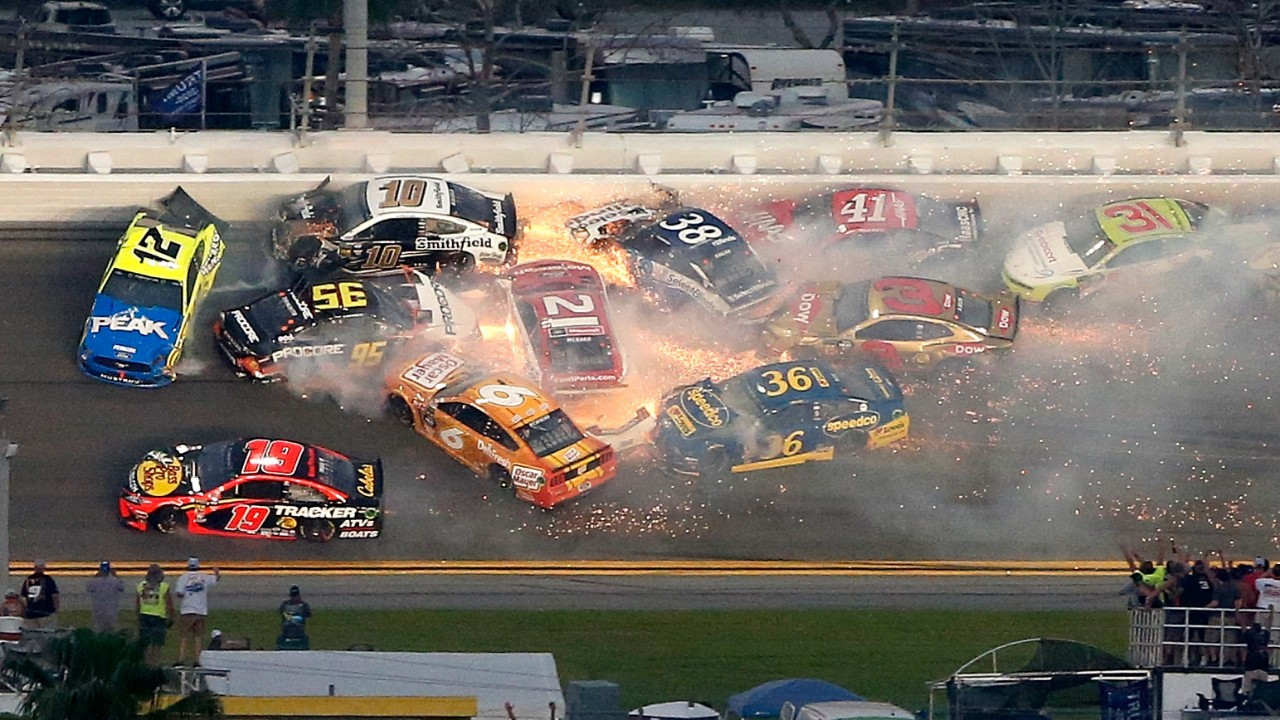 All of the crashes from the 2019 Daytona 500 FOX Sports 1280x720