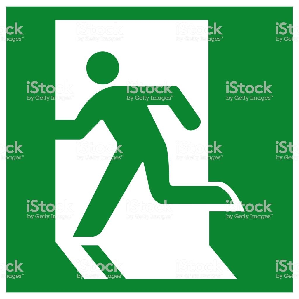 Emergency Exit Symbol Sign Vector Illustration Isolate On White 1024x1024
