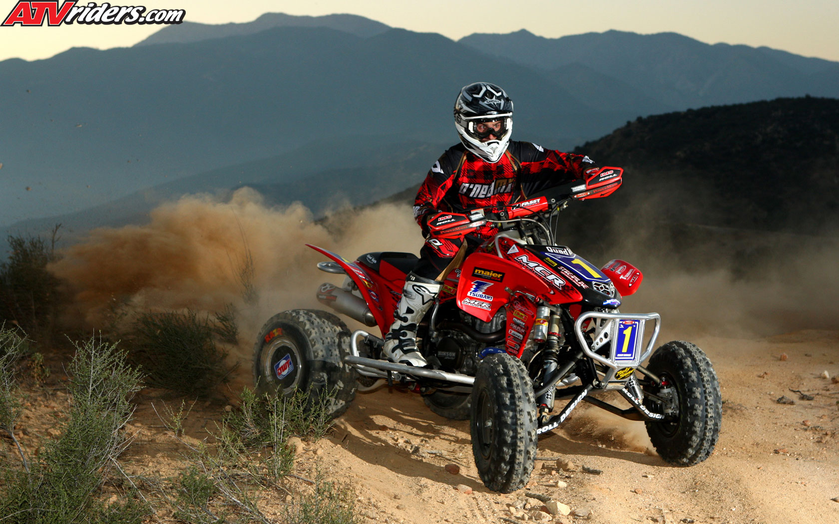 ATV Champion Beau Baron on his Honda TRX450R   Wednesday Wallpapers 1680x1050