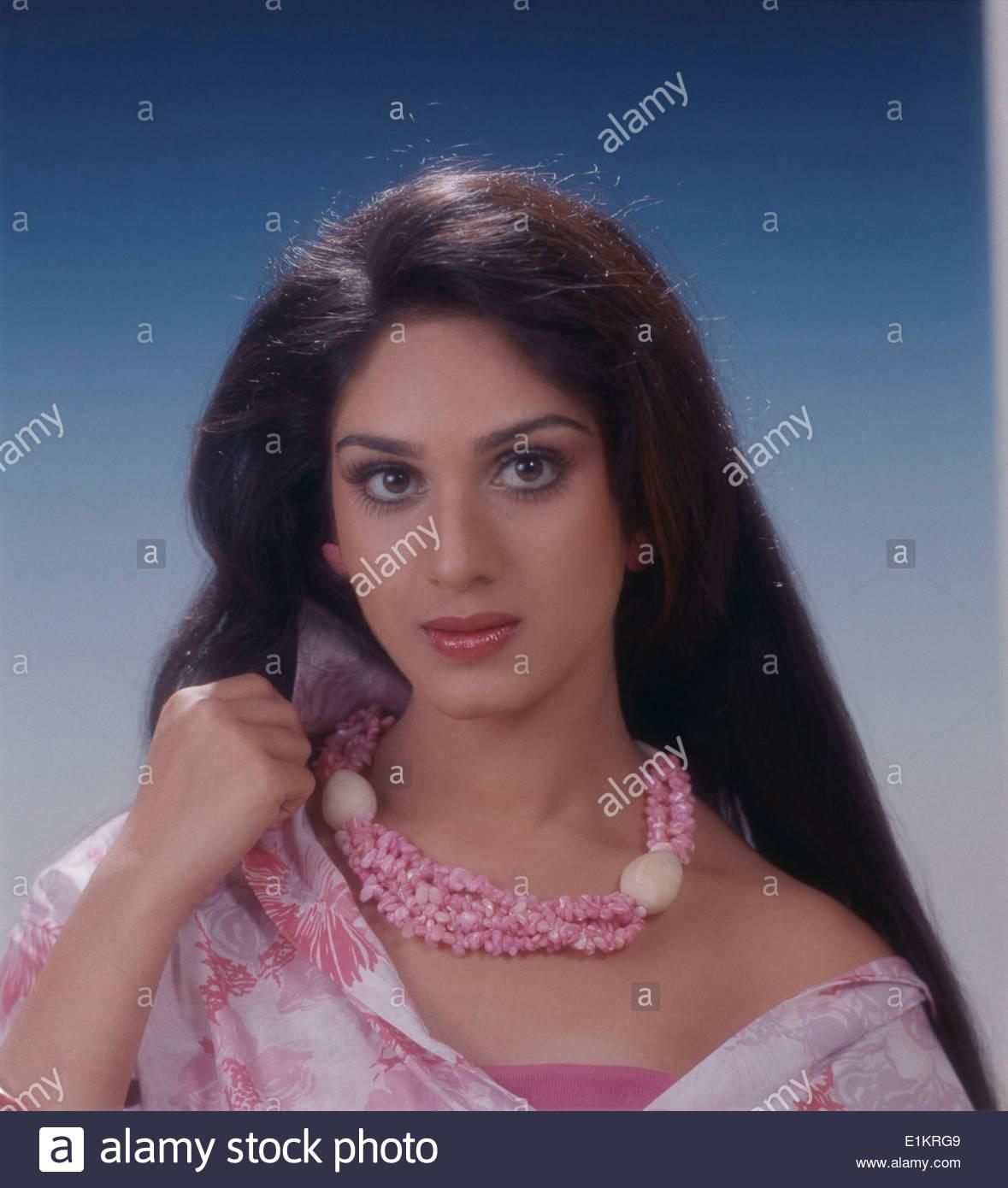 Portrait Meenakshi Sheshadri Indian Film High Resolution Stock 1179x1390