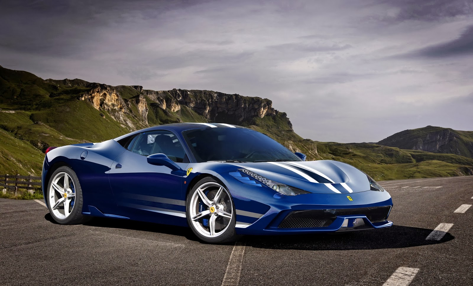 Ferrari Italia Blue Car HD Wallpaper   Sport Cars HD Wallpapers 1600x968