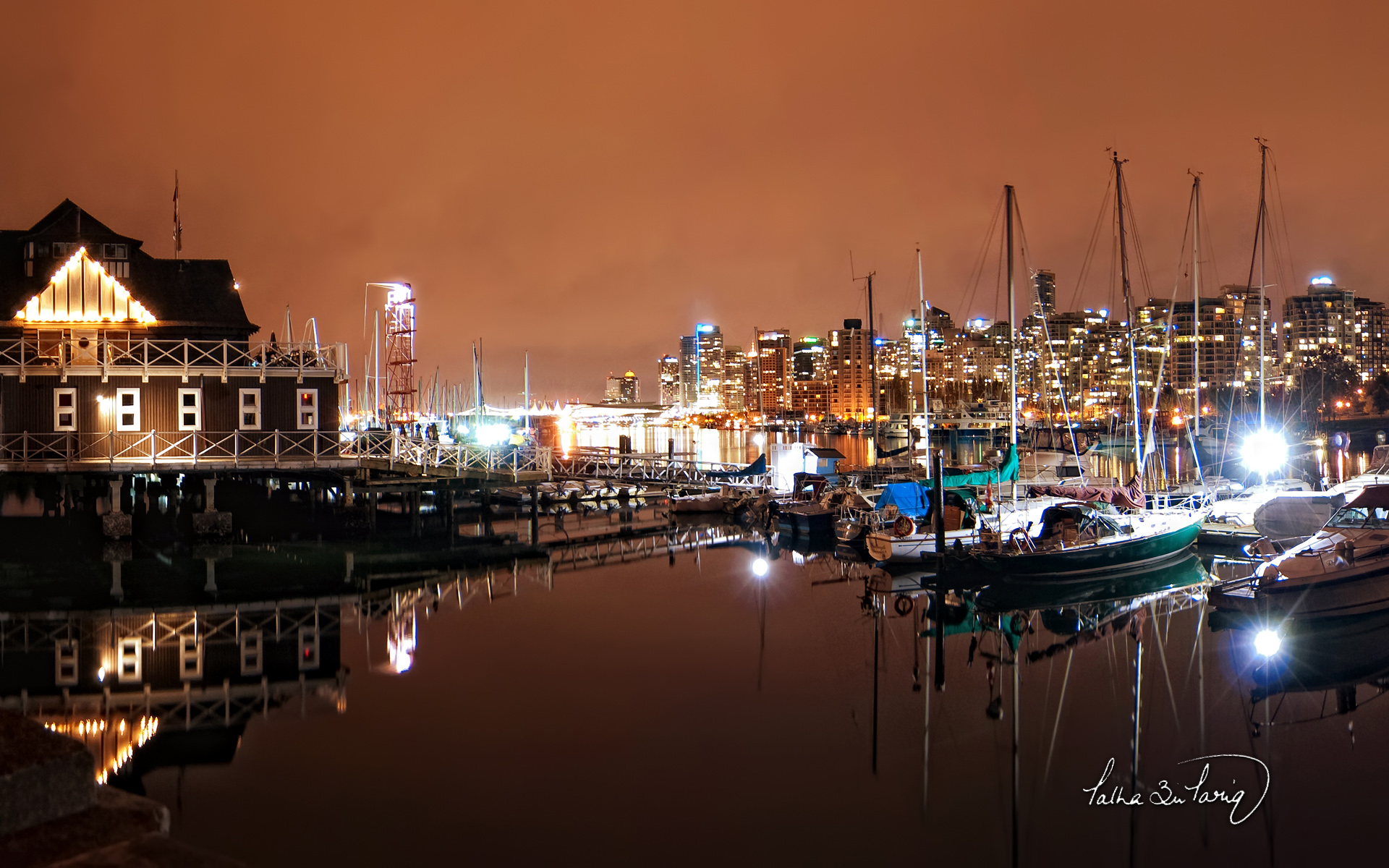 Vancouver Coal Harbour Nights Wallpapers HD Wallpapers 1920x1200