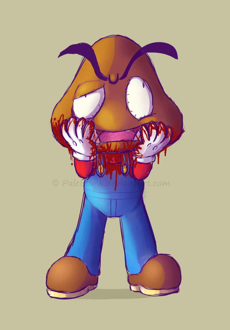 Free download The Goomba Mask Paleblank [800x1148] for your