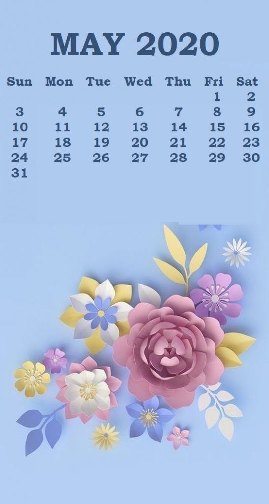 Cute May 2020 Calendar Wallpaper For Desk Floral May Calendar 548x1024