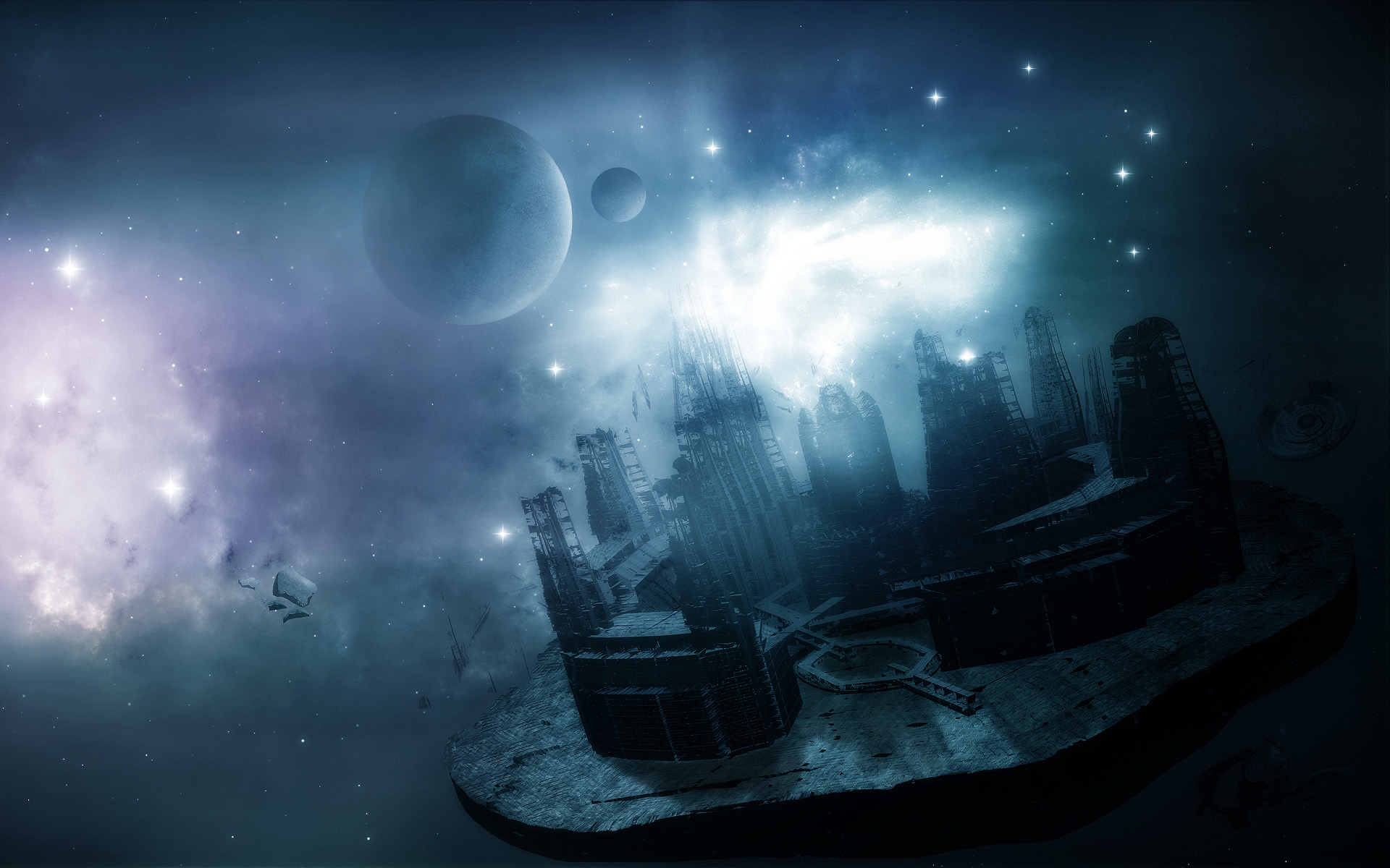 in spce future space planets desktop wallpaper screensaver background 1920x1200