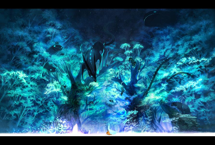 Anime Forest wallpaper   ForWallpapercom 893x606
