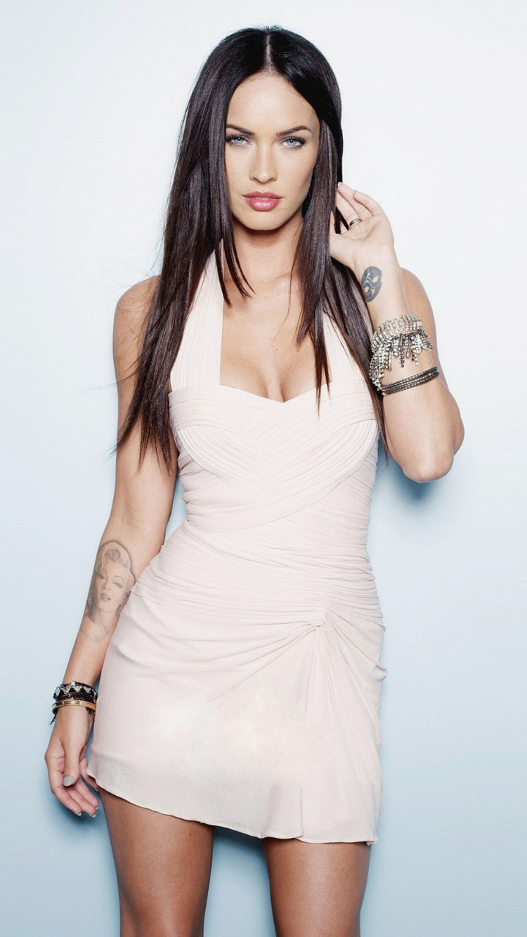 Megan Fox In White Dress iPhone 6 6 Plus and iPhone 54 Wallpapers 750x1334