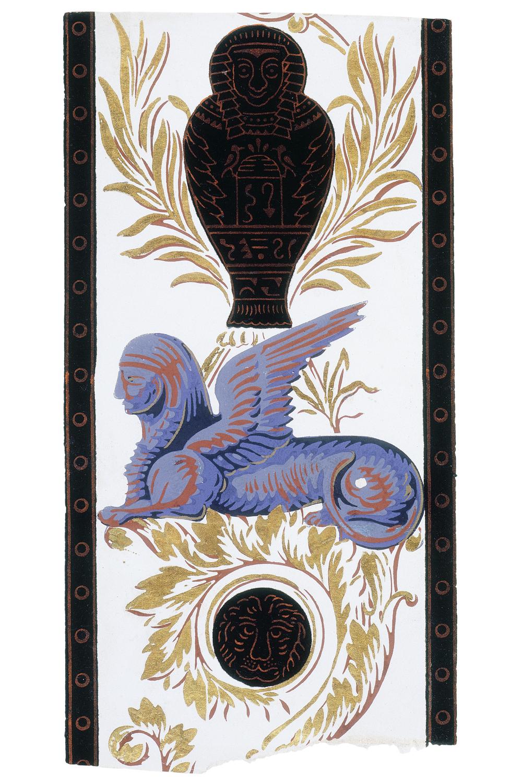 Wallpaper border with Egyptian motifs 1806 Museum no E2259 1966 1000x1500