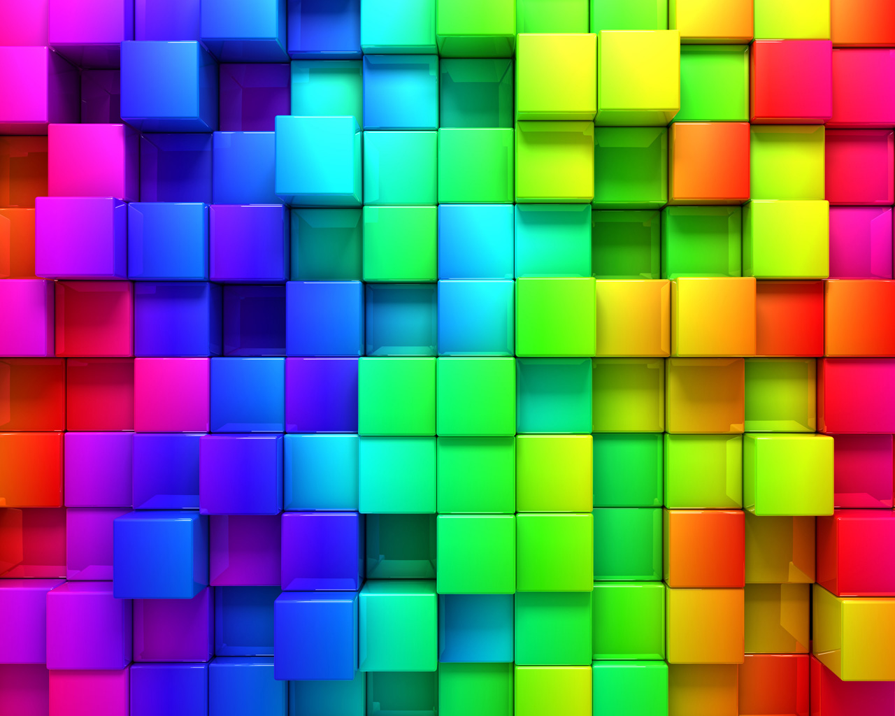 3D Colorful Cubes Backgrounds For PowerPoint   3D PPT Templates 1280x1024