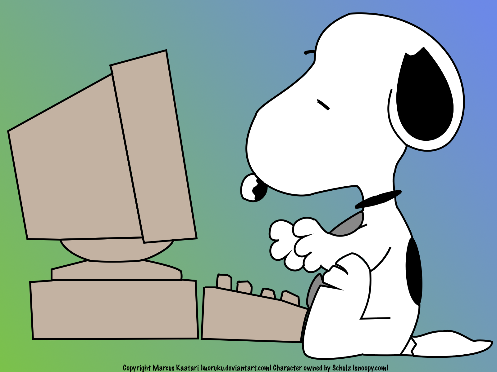 that I love but Snoopy is my favorite Because hes a writer 1600x1200