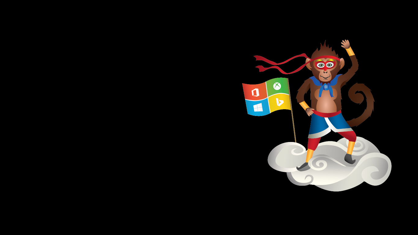 Microsoft celebra el ao nuevo chino con wallpapers del Ninja Monkey 1366x768