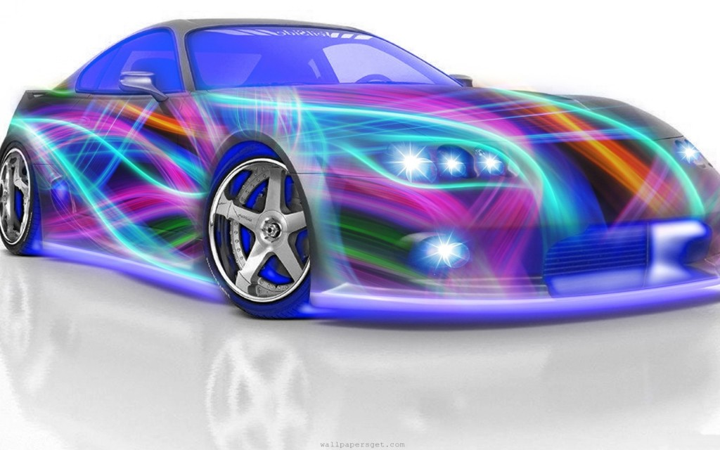 Artistic Design 3D Car Colorful HD Wallpaper   Stylish HD Wallpapers 1024x640