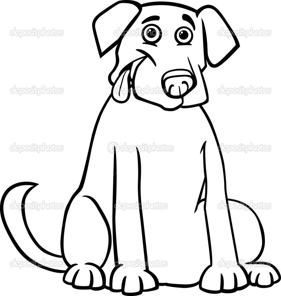 Cartoon Black And Yellow Labrador Retriever Foto Artis   Candydoll 970x1024