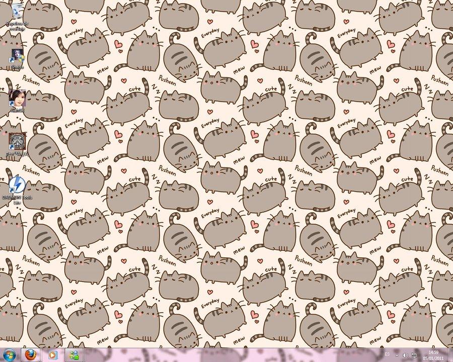 Pusheen Wallpaper Computer Everyday cute pusheen by 900x720