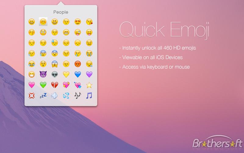 Quick Emoji HD for Mac Download 800x500