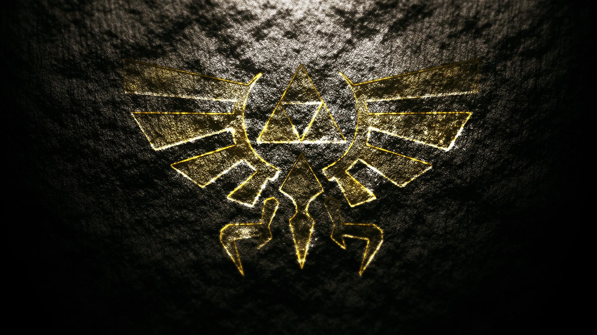 of zelda logoThe Legend of Zelda Logo Desktop Background HD Wallpaper 1920x1080