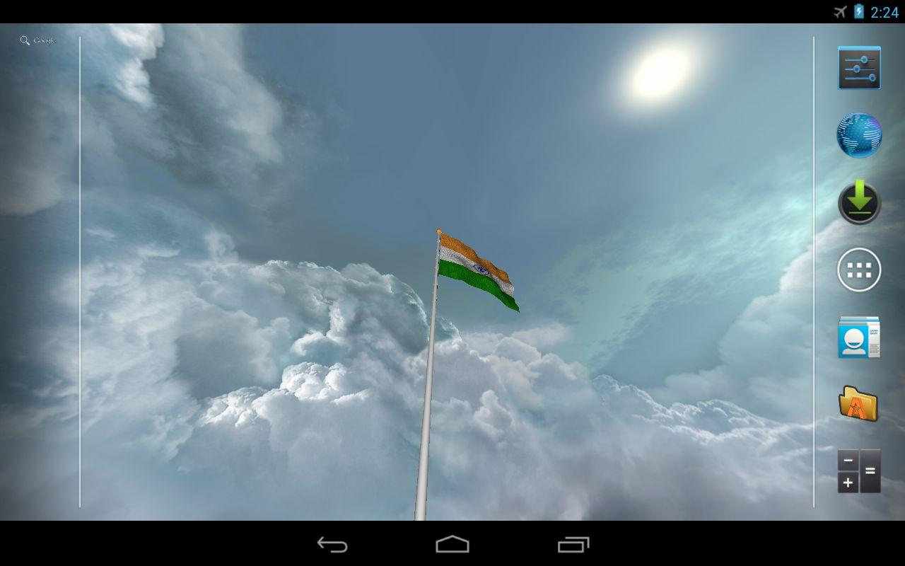 Real India Flag Live Wallpaper   screenshot 1280x800