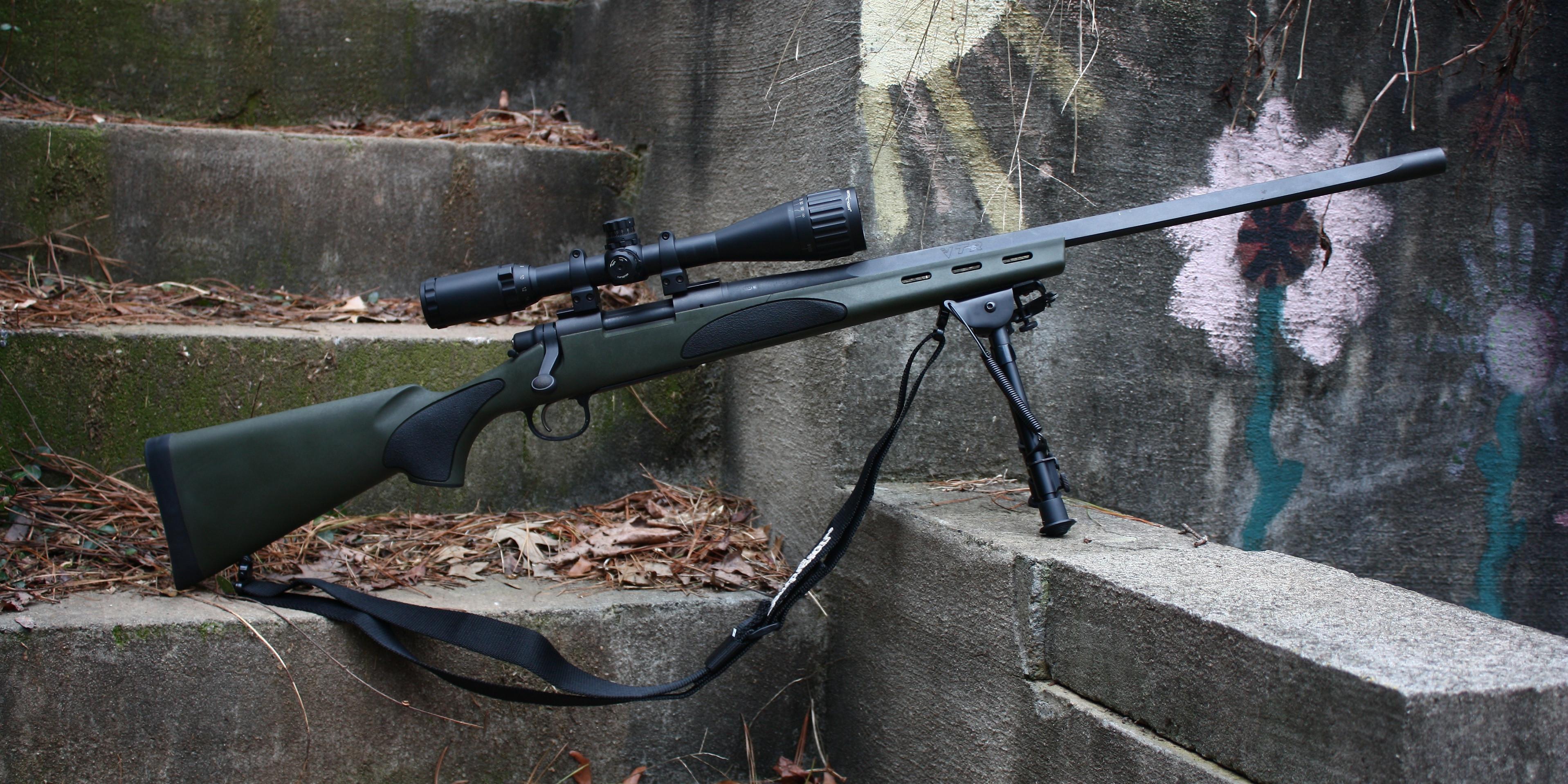 Wallpaper remington 700 vtr sniper rifle sniper carbine wallpapers 3834x1917