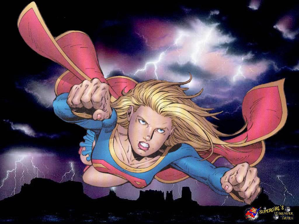 flying girl   SuperGirl Wallpaper 1024x768