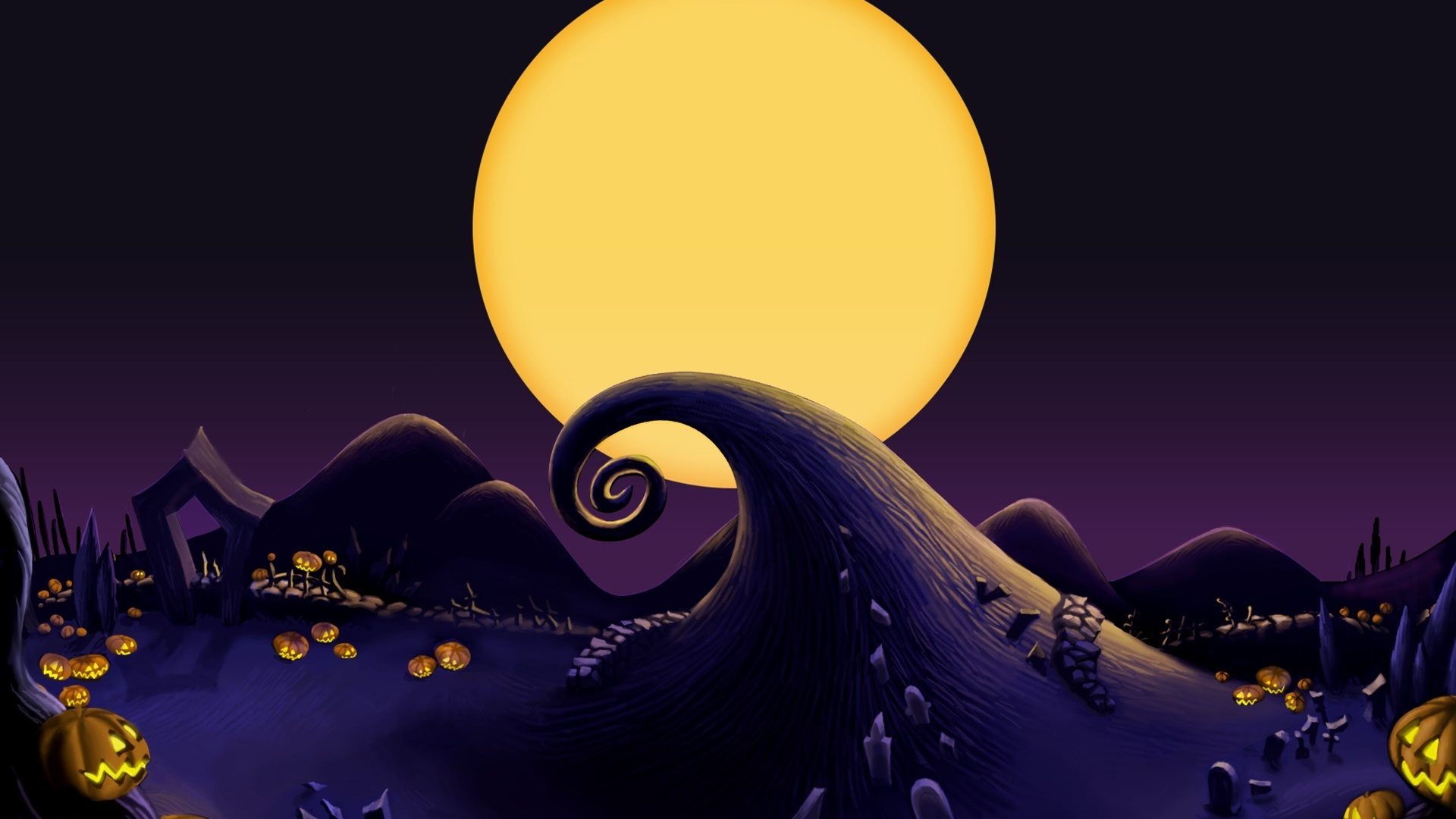 1920x1080 The Nightmare Before Christmas Landscape desktop 1920x1080