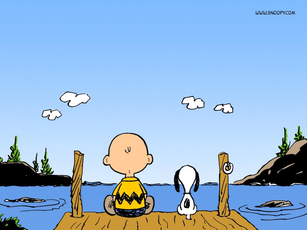 desktop wallpaper s cartoons chuck and snoopy peanuts comic stripjpg 1024x768