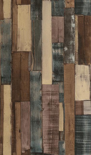 Weathered Brown Multi Colored Vertical Slat Barnwood Wallpaper 376x640