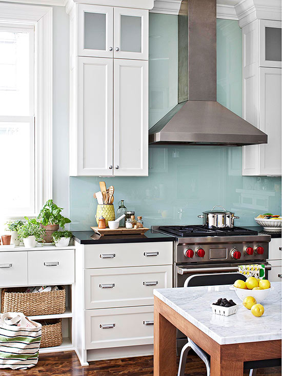 Vinyl wallpaper kitchen backsplash   Stunning Modern Kitchen 550x733
