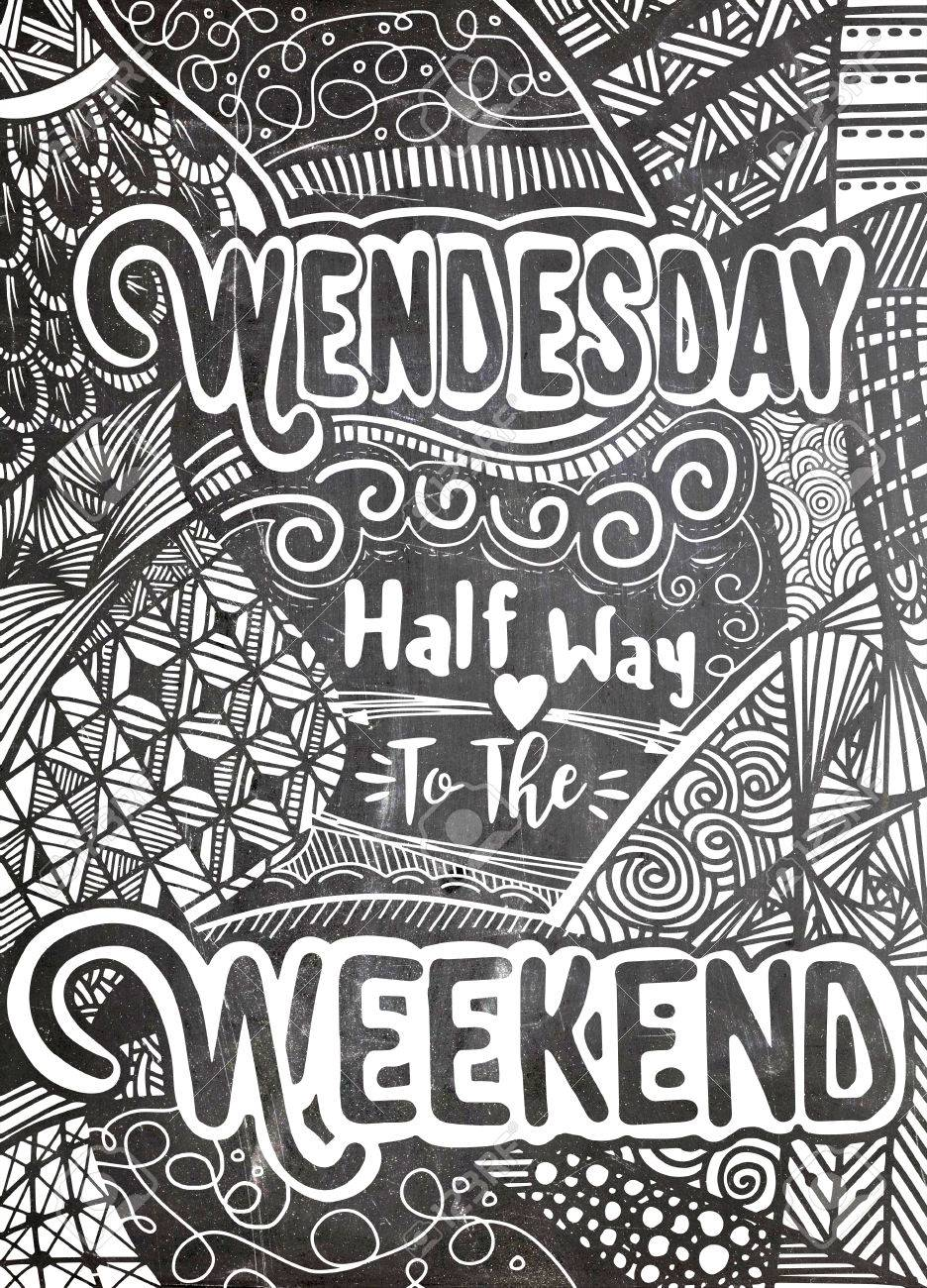 Week Days Motivation Quotes Wednesday Vector Ethnic Pattern 936x1300