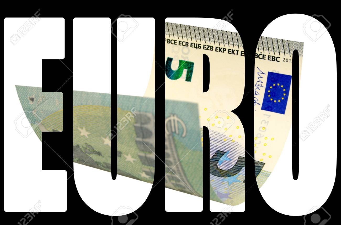 Five Euros Banknote Isolated On White Background Contours Saved 1300x860