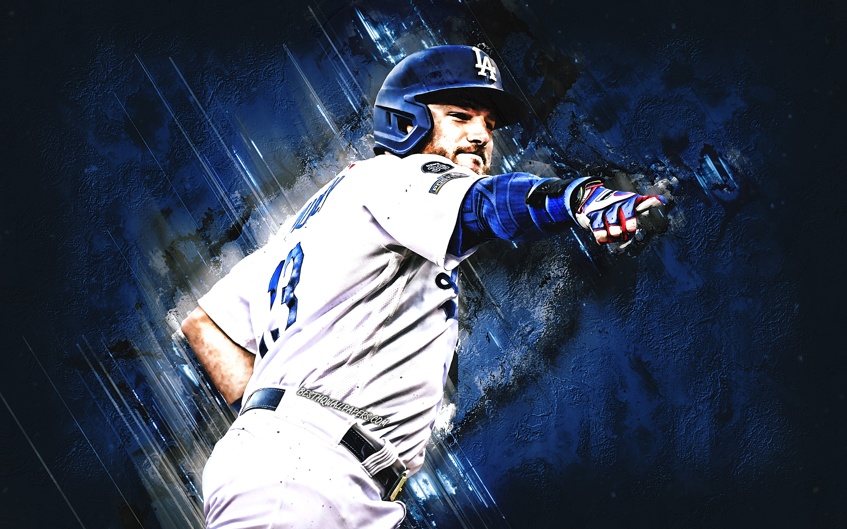 Download wallpapers Max Muncy Los Angeles Dodgers MLB american 2880x1800