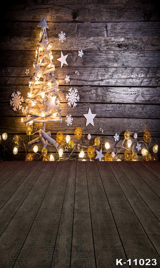 Retro Wood Photography Backdrops 150x150cm Christmas Photos 550x917
