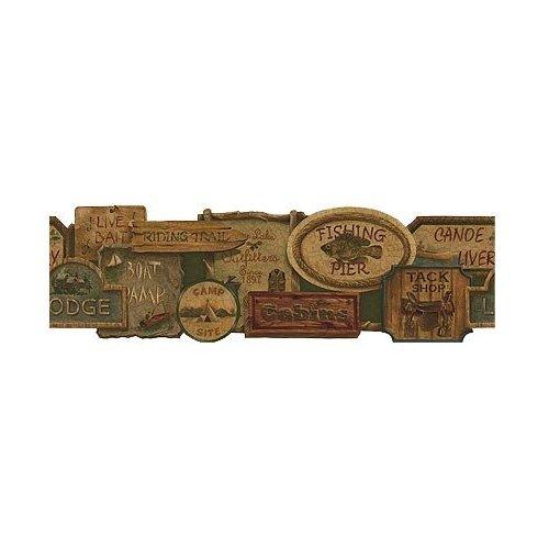 Rustic Lodge Wallpaper Borders for Pinterest 500x500