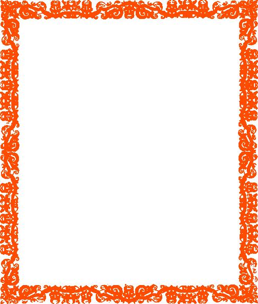Orange Border Clip Art 504x593