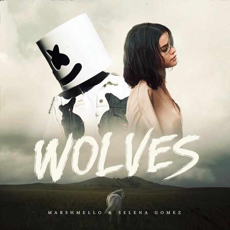 Marshmello Selena Gomez   Wolves Selena gomez album cover 800x800