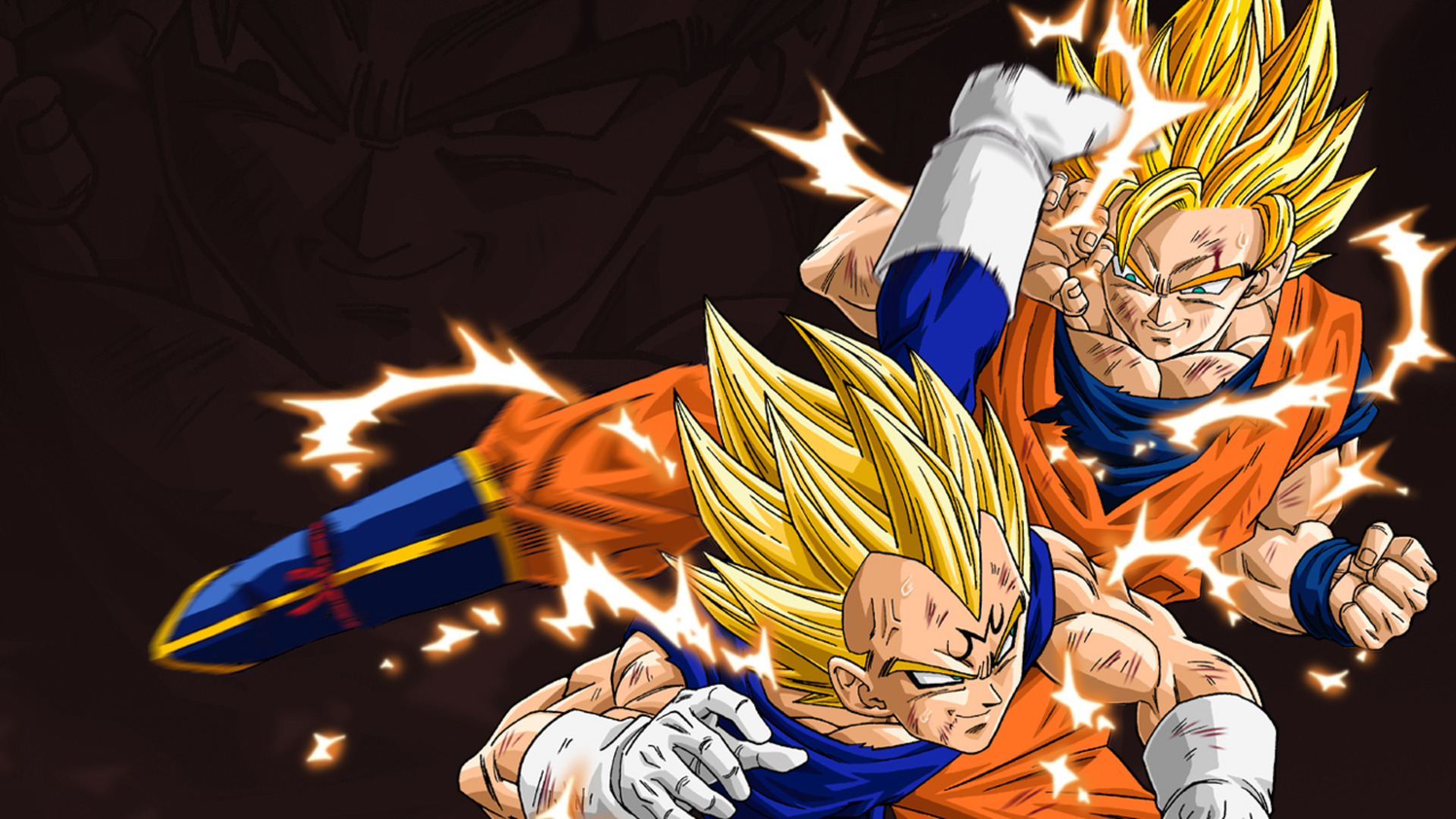 Goku Vegeta Wallpaper   Dragon Ball Z Wallpaper 35713309 1920x1080