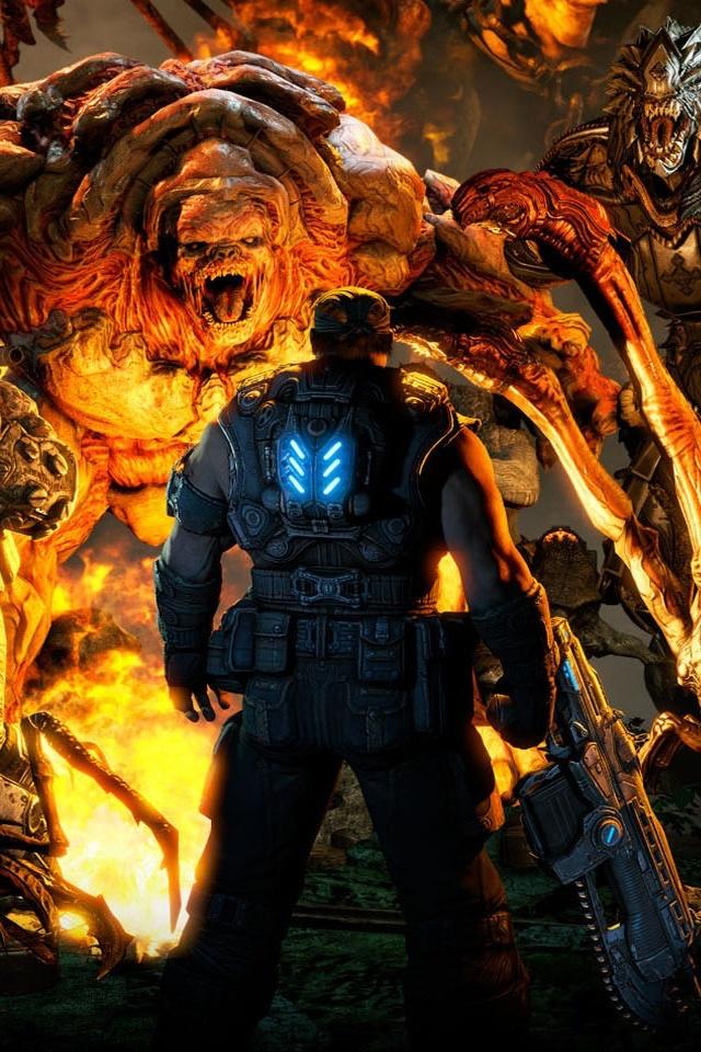 for Games Gears of war 3 iphone hd wallpaper iPhone HD Wallpaper 640x960