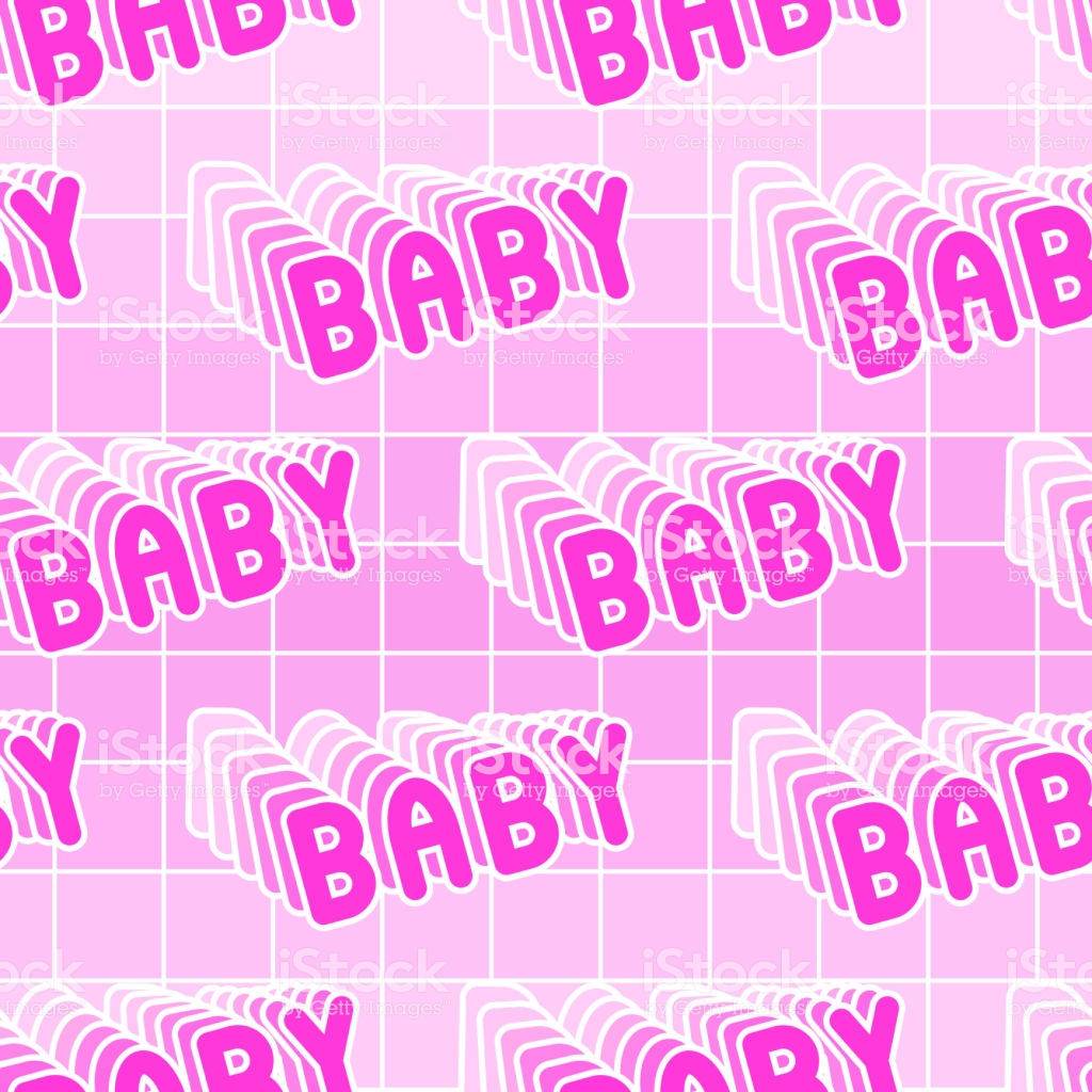 Seamless Pattern With Baby Patches Vector Wallpaper Girly Feminine 1024x1024