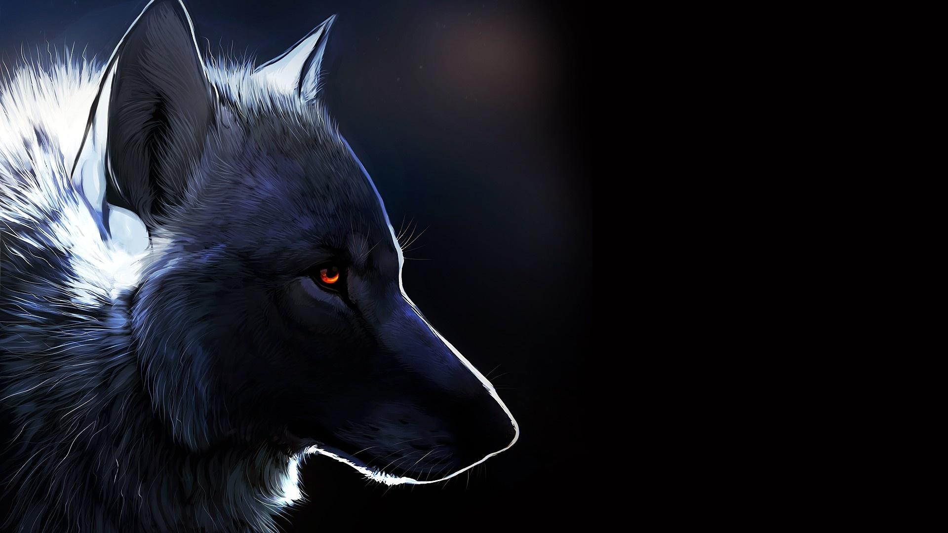 Animals wolf art wallpaper 1920x1080 162644 WallpaperUP 1920x1080